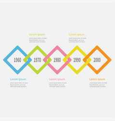 Five step timeline infographic colorful big vector