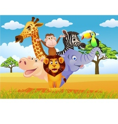 funny animal cartoon vector image