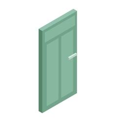 Green interior door icon cartoon style vector