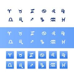 Handdrawn zodiac signs vector
