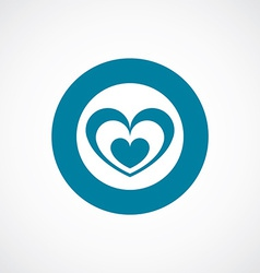 Heart icon bold blue circle border vector