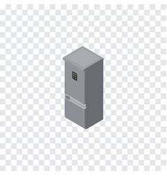 Isolated refrigerator isometric kitchen fridge vector