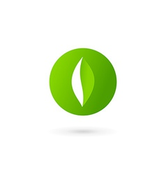 Letter O number 0 eco leaves logo icon design vector image