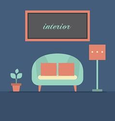 Modern design interior sofa vector