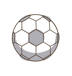 Monochrome silhouette soccer ball element sport vector