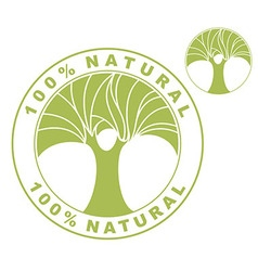 Natural organic labels vector
