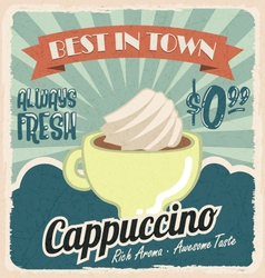 Old vintage coffee poster vector image vector image
