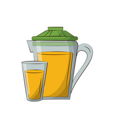orange juice image vector image