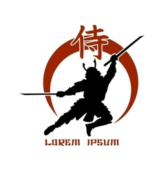 Oriental martial arts samurai fight club logo vector