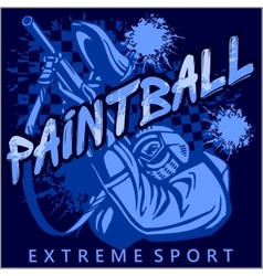 Paintball Team - extreme sport vector image