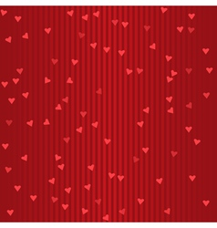 Seamless holiday red striped pattern with hearts vector