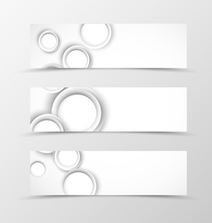 Set of header banner geometric design vector