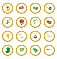 spring icon circle vector image vector image