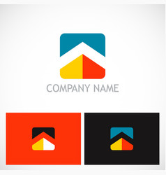 square home roof company logo vector image