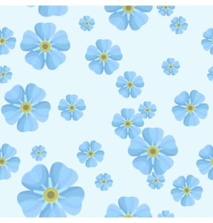Summer seamless pattern with blue forget-me-nots vector