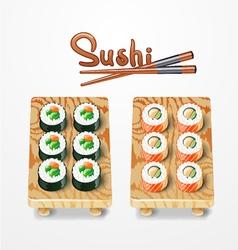 Sushi set philadelphia classic salmon philadelphia vector