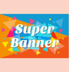 trendy flat geometric banner vector image