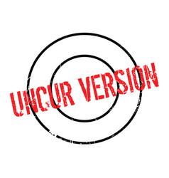 Uncur version rubber stamp vector