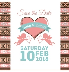 Wedding invitation design vector