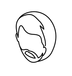Young man head vector