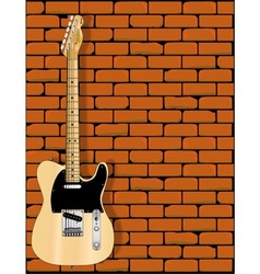 Guitar wall vector
