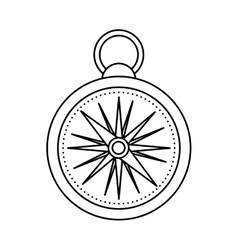 Compass travel device icon vector