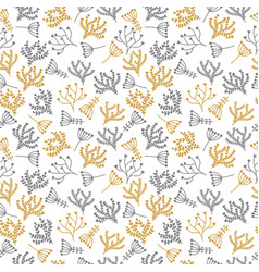 Cute background seamless floral pattern in doodle vector