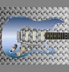 metal tone guitar vector image