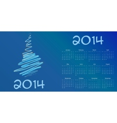 calendar to a new 2014 year vector image