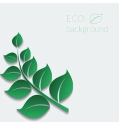 eco background vector image