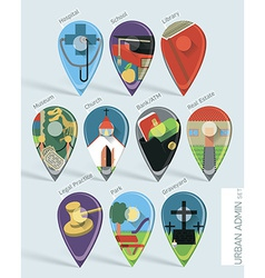 Administration map pins vector