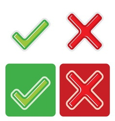 Check mark resize vector image