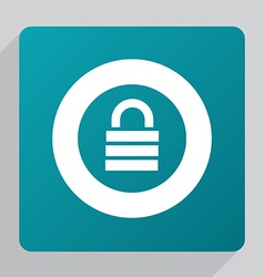 flat lock icon vector image