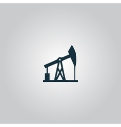 Oil derrick black icon vector