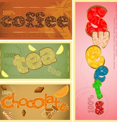 Cafe typography vector