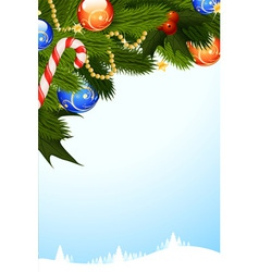 Mistletoe christmas card vector