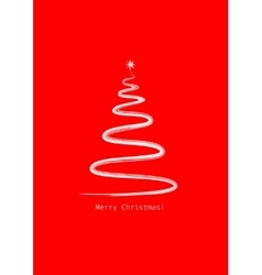 Merry christmas red mini christmas tree zen vector