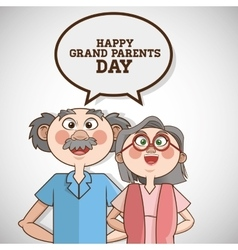 Grandparents graphic vector
