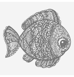 Fish in paisley mehndi doodle style vector