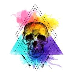 Tattoo style skull vector image