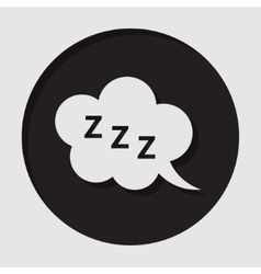 Information icon - zzz speech bubble vector