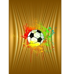 Abstract gold background with soccer ball vector image