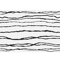 Abstract striped seamless backgroud white black vector