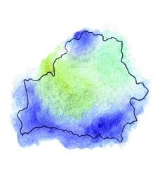 Belarus watercolor map vector