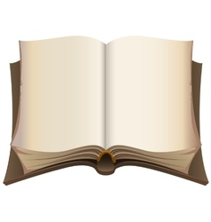 Brown old open book vector image vector image