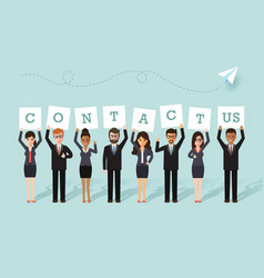 businessman and businesswoman team vector image vector image