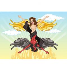 cartoon duality of women vector image