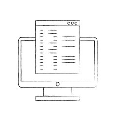 computer desktop with template vector image vector image