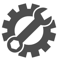 Configuration tools flat icon vector