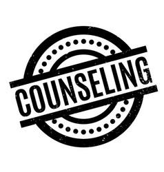 Counseling rubber stamp vector